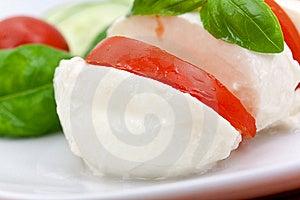 Mozzarella - Tomato Salad,with Cucumber Royalty Free Stock Photography - Image: 10268497