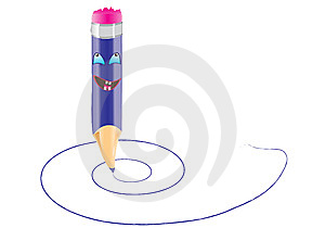 Smile Pencil Stock Photos - Image: 10269313