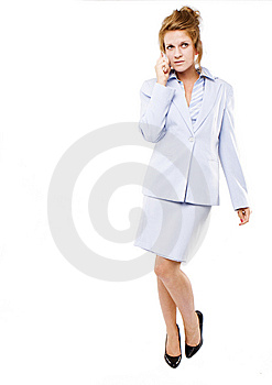 Business Woman  Speaking On Her Cell Phone Royalty Free Stock Photo - Image: 10270615