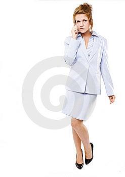 Mujer De Negocios Que Habla En Su Teléfono Celular Foto de archivo libre de regalías - Imagen: 10270615