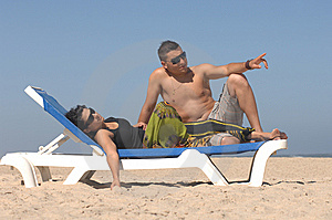 Lovely Couple On The Beach Royalty Free Stock Photos - Image: 10271228