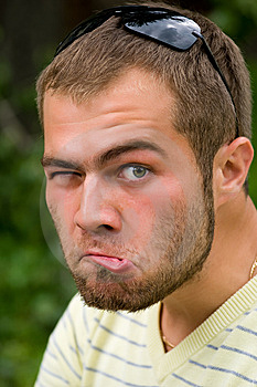Person Pulls Faces Stock Images - Image: 10271784