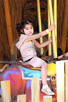 Girl In Merry Go Round Royalty Free Stock Photography - Image: 10271967