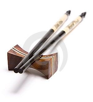 Chopsticks On A Chopstick Rest Royalty Free Stock Photos - Image: 10272458