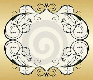 Retro Gold Vintage Frame Stock Image - Image: 10272801