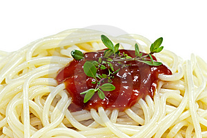 Spaghetti With Tomato Sauce Royalty Free Stock Image - Image: 10274436