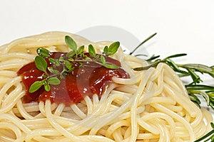 Spaghetti With Tomato Sauce Royalty Free Stock Photos - Image: 10274688