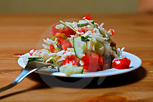 Salad With Tomatoes Royalty Free Stock Image - Image: 10276646