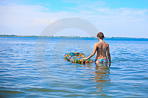 Girl On The Ocean Royalty Free Stock Photography - Image: 10277617