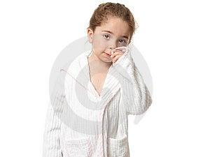Little Girl In Bathrobe Stock Photo - Image: 10277680