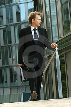 Businessman Walking Royalty Free Stock Images - Image: 10278029