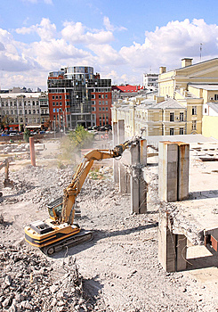 Urban Renewal In The City Centre Royalty Free Stock Images - Image: 10279229