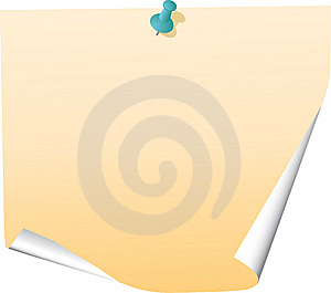 Blank Note Royalty Free Stock Photography - Image: 10279397