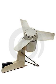The Out-of-date White Fan Stock Image - Image: 10279431