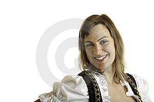 Bavarian Girl At Oktoberfest With  Stock Photography - Image: 10280182