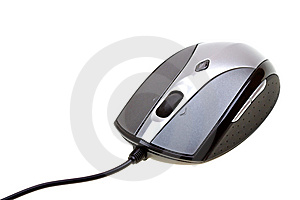 Close-up Computer Mouse Isolated On White Stock Photo - Image: 10280660