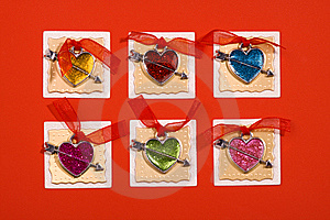 Hearts Forms For Holiday Congratulation Royalty Free Stock Image - Image: 10283106