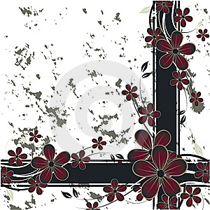 Nice Flower Grunge Background Royalty Free Stock Photos - Image: 10284328