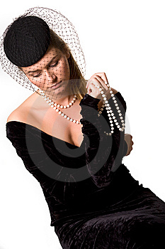 Portrait Of Young Lady In Black Royalty Free Stock Images - Image: 10286079