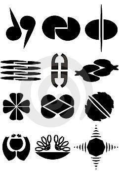 Ejemplos Para Las Insignias Foto de archivo - Imagen: 10286560