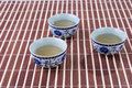 Blue and white porcelain teacups Royalty Free Stock Image