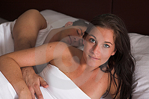 Beautifull Young Woman In Her Bed Stock Photos - Image: 10290323