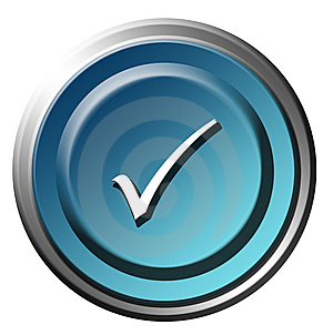 Blue Button Royalty Free Stock Image - Image: 10292306