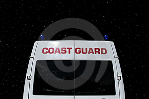 Coast Guards Vehicle Tail Stock Photos - Image: 10293603