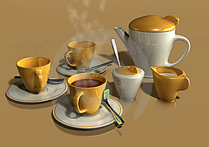 Tea Set Royalty Free Stock Image - Image: 10294386