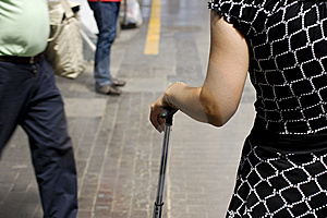 Woman With Trolley Stock Photography - Image: 10299392