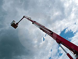 Rescue Firefighting Basket Crane Stock Photography - Image: 10299712