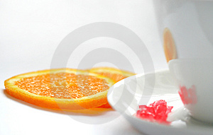 White Cup On A White Background Stock Photography - Image: 1030322
