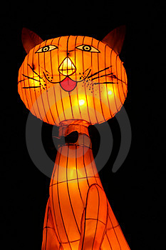 Cat Lantern Stock Photography - Image: 1031732