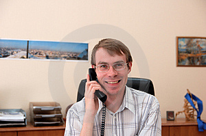 Businessman Talks On A Phone Stock Photography - Image: 1036682