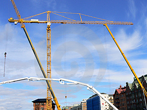 Construction Cranes Stock Photo - Image: 1038380