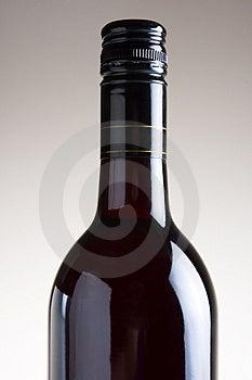 Isolato bottiglia di Vino Rosso.