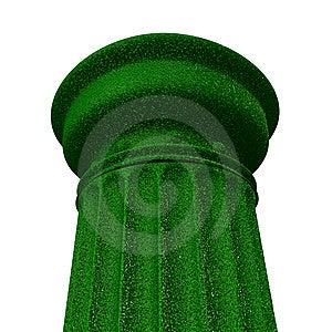 3d Illustration Of A Green Column Stock Image - Image: 10300131