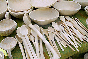 Romanian Wooden Spoons Royalty Free Stock Photos - Image: 10304718