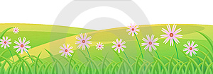 Flower And Lawn Royalty Free Stock Photo - Image: 10307705