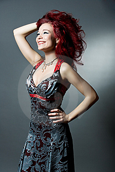 Red Haired Girl With Brilliant Smile Stock Image - Image: 10307821