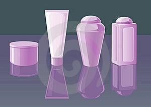 Beautiful Cosmetic Jars Stock Photos - Image: 10312053