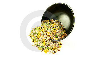 Soup Pulses Spilling From A Bowl Royalty Free Stock Photos - Image: 10313168