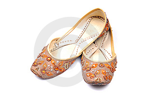 Indian Punjabi Ladies Footwear Royalty Free Stock Photography - Image: 10315147