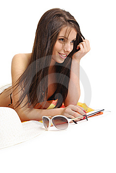 Beautiful Sexy Girl In Bikini Laying Royalty Free Stock Photos - Image: 10316038