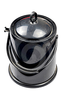 Black Ice Container Stock Photo - Image: 10317810