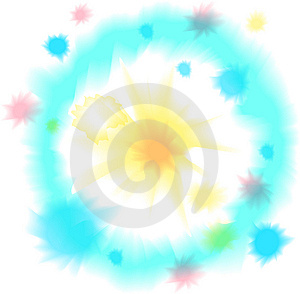 Watercolor Round Frame Stock Photography - Image: 10317972