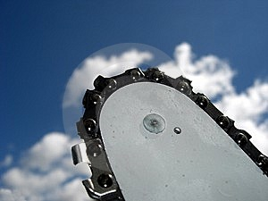 Chain Saw And The Sky Royalty Free Stock Image - Image: 10319296