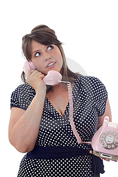 Young Businesswoman Talks On The Phone Stock Photography - Image: 10322022