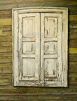 Window With The Closed Shutters Stock Photography - Image: 10323592