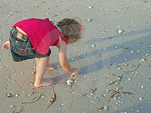 Little Girl On The Beach Alone 33 Royalty Free Stock Image - Image: 10326986